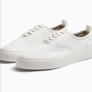 TOPMAN - White Canvas Sneakers